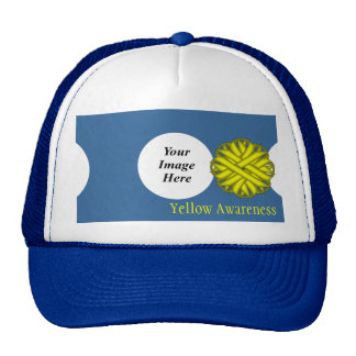 Yellow Flower Ribbon Template by Kenneth Yoncich Trucker Hat