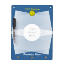 Yellow Flower Ribbon Template Dry Erase Board
