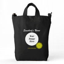 Yellow Flower Ribbon Template Duck Bag