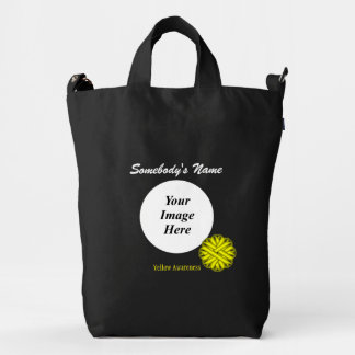 Yellow Flower Ribbon Template Duck Bag