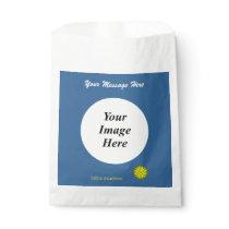 Yellow Flower Ribbon Template Favor Bag
