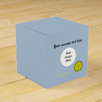 Yellow Flower Ribbon Template Favor Box