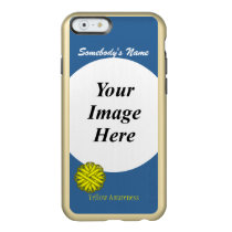 Yellow Flower Ribbon Template Incipio Feather Shine iPhone 6 Case