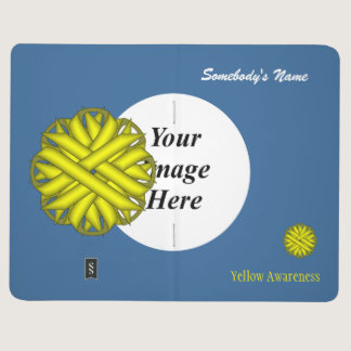 Yellow Flower Ribbon Template Journal