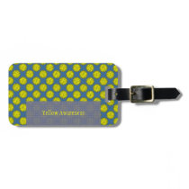 Yellow Flower Ribbon Template Luggage Tag
