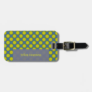 Yellow Flower Ribbon Template Bag Tags