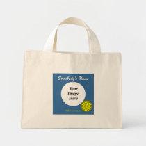 Yellow Flower Ribbon Template Mini Tote Bag