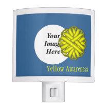 Yellow Flower Ribbon Template Night Light