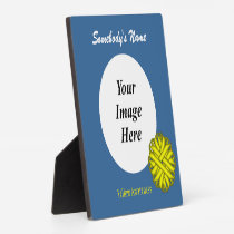 Yellow Flower Ribbon Template Plaque