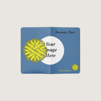Yellow Flower Ribbon Template Pocket Moleskine Notebook