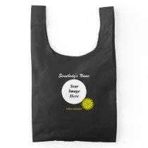 Yellow Flower Ribbon Template Reusable Bag