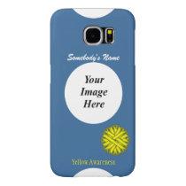 Yellow Flower Ribbon Template Samsung Galaxy S6 Case