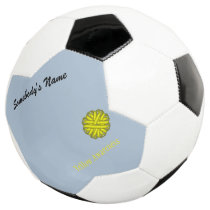 Yellow Flower Ribbon Template Soccer Ball