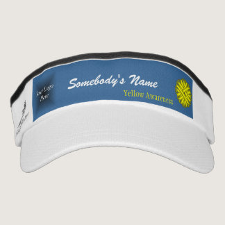 Yellow Flower Ribbon Template Visor