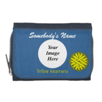 Yellow Flower Ribbon Template Wallet