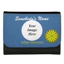 Yellow Flower Ribbon Template Women's Wallet