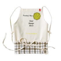 Yellow Flower Ribbon Template Zazzle HEART Apron