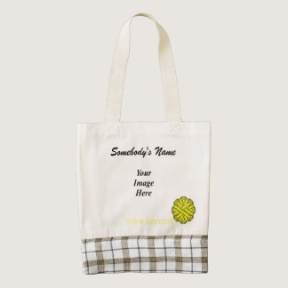 Yellow Flower Ribbon Template Zazzle HEART Tote Bag