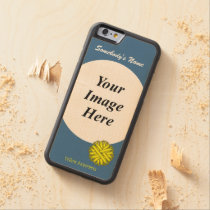 Yellow Flower Ribbon Tmpl by Kenneth Yoncich Carved Maple iPhone 6 Bumper Case
