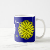 Yellow Flower Ribbon Tmpl by Kenneth Yoncich Coffee Mug