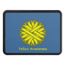 Yellow Flower Ribbon Tow Hitch Cover