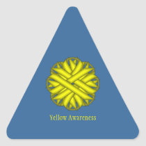Yellow Flower Ribbon Triangle Sticker