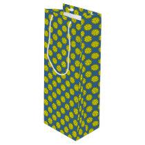 Yellow Flower Ribbon Wine Gift Bag