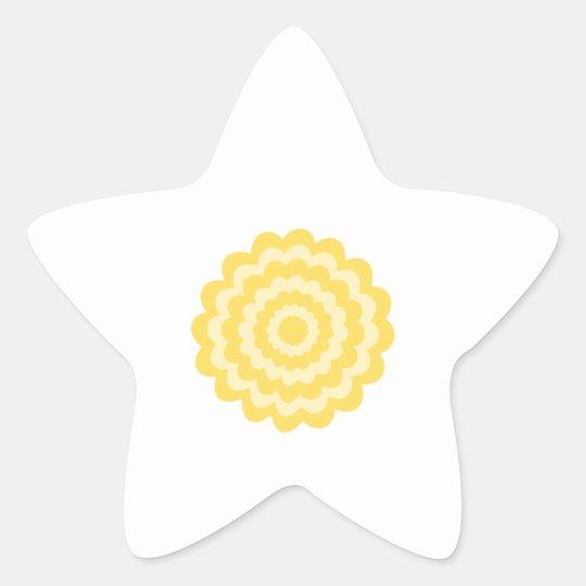 Yellow flower. star sticker