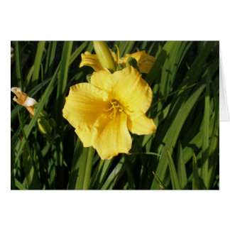 Yellow Flower Stationery Note Card