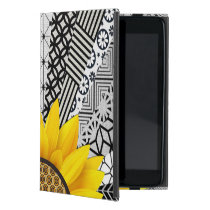 Yellow Flower Sun Ray Pattern ipad Case