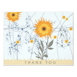 Yellow Flower -Thank you cards