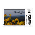 Yellow Flower Thank You Stamps