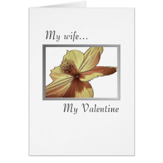 Yellow Flower Valentine for Wife Card