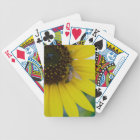 Yellow Flower with Bee Bicycle Playing Cards