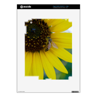 Yellow Flower with Bee iPad 2 Decal