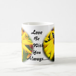 Yellow Flower With Butterfly Kellie Marie s Design Coffee Mug
