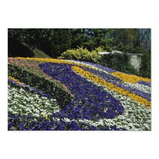 "Yellow Flowerbed, Mainau, Germany flowers 5"" X 7"" Invitation Card"