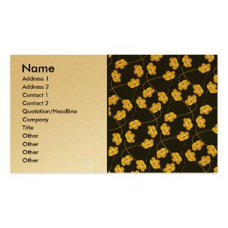 yellow_flowers1, nombre, dirección 1, dirección 2, plantilla de tarjeta de negocio