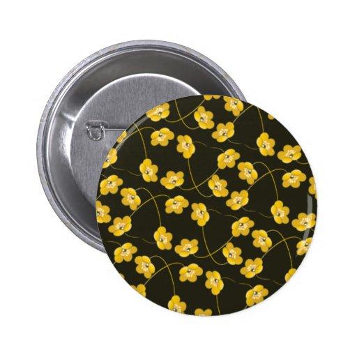 yellow_flowers1 pin redondo 5 cm
