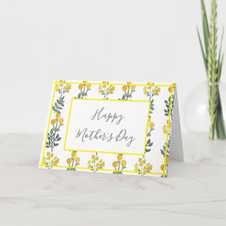 Yellow Flowers Accent Card