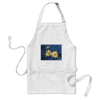 Yellow flowers adult apron