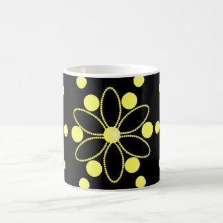 Yellow flowers and beads coffee mug