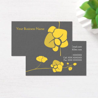 Yellow Flowers and Buds Business Card