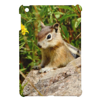 Yellow Flowers and cute  little Chipmunk iPad Mini Cover