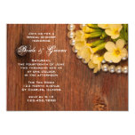 """Yellow Flowers and Pearls Country Bridal Shower 5"""" X 7"""" Invitation Card"""