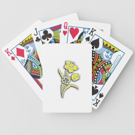 Yellow Flowers Bicycle Poker Cards