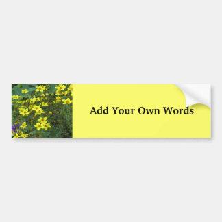 Yellow flowers bumper sticker