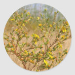 Yellow Flowers Bush Sticker
