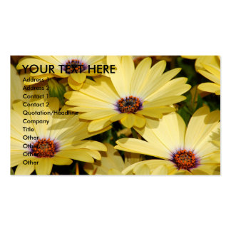 Yellow Flowers Business Card