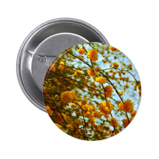 Yellow flowers button